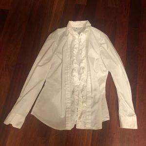 New York and Company ruffle button down blouse